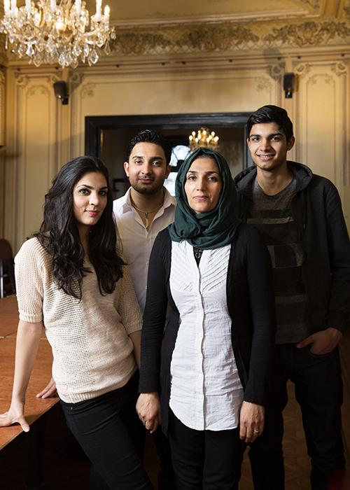 Flüchtlingsfamilien